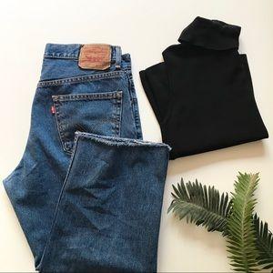 Vintage (DIY Cropped) Levi's 550  Jeans